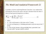 the model and analytical framework 2