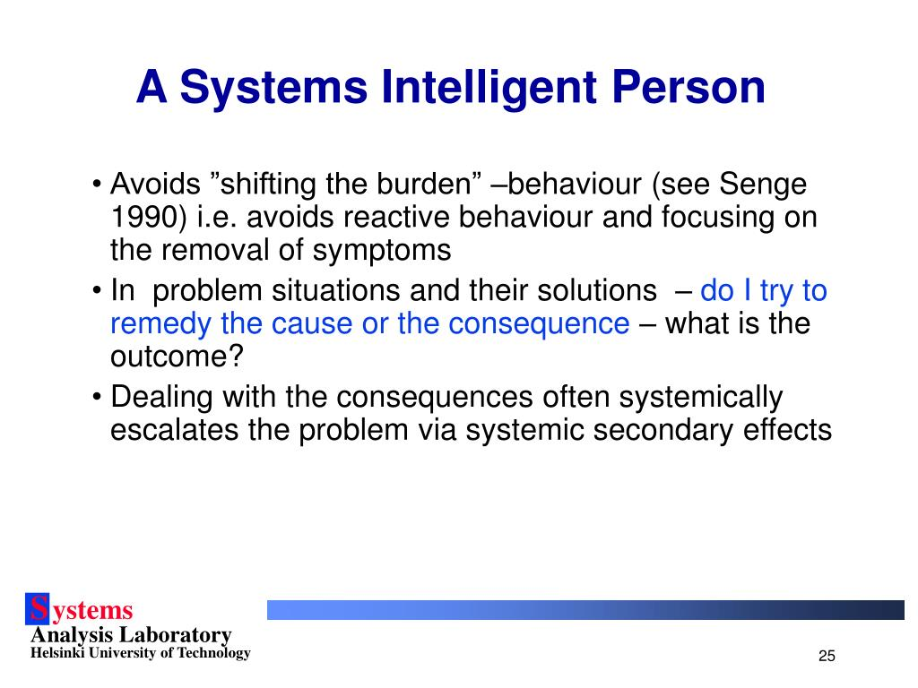 A Systems Intelligent Person
