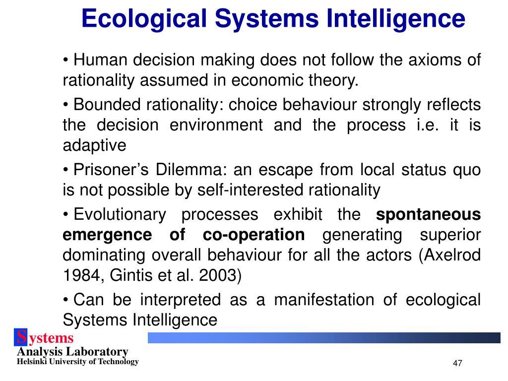 Ecological Systems Intelligence