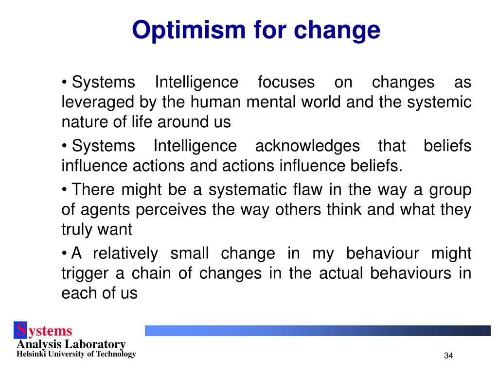 Optimism for change
