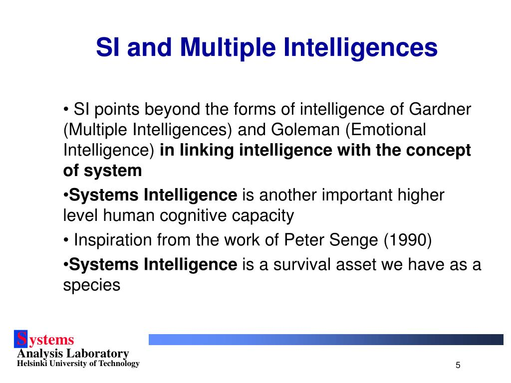 SI and Multiple Intelligences