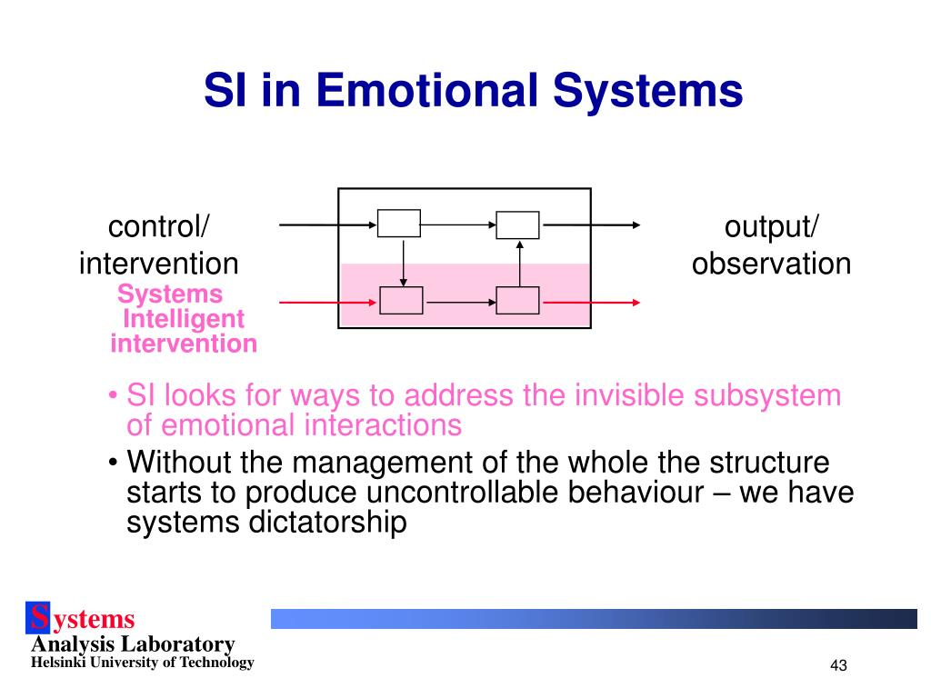 SI in Emotional Systems