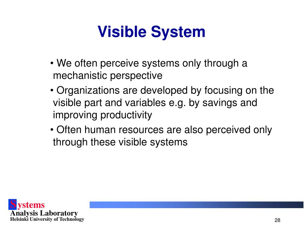Visible System