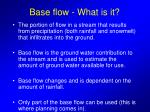 base flow what is it