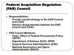 federal acquisition regulation far council
