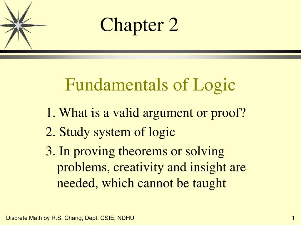 fundamentals of logic l.
