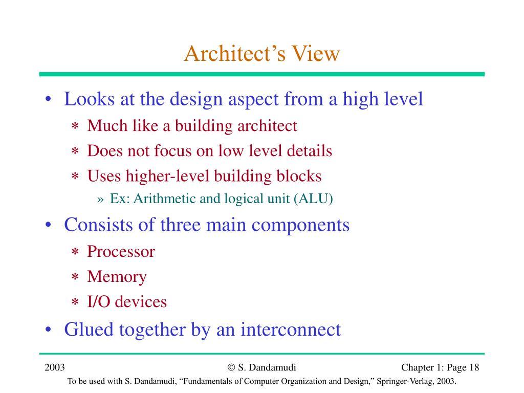 Architect's View