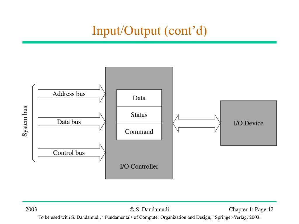 Input/Output (cont'd)