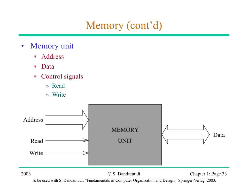 Memory (cont'd)