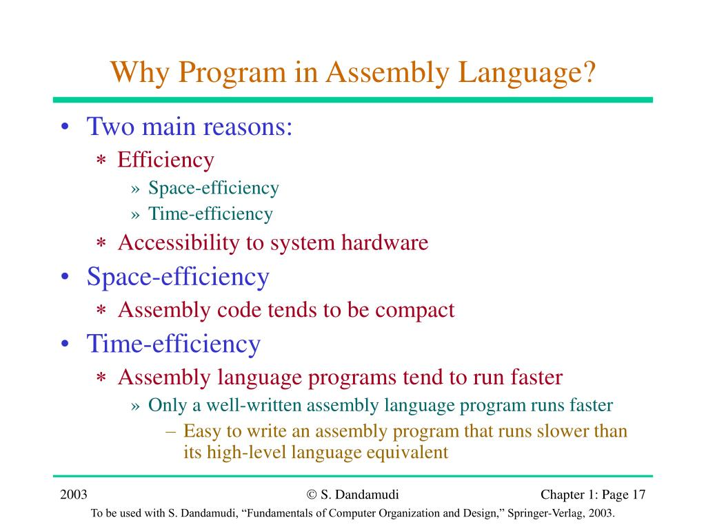 Why Program in Assembly Language?