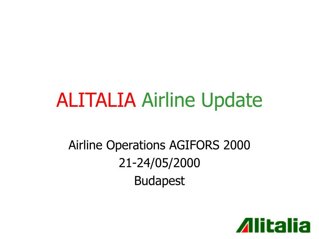 alitalia airline update