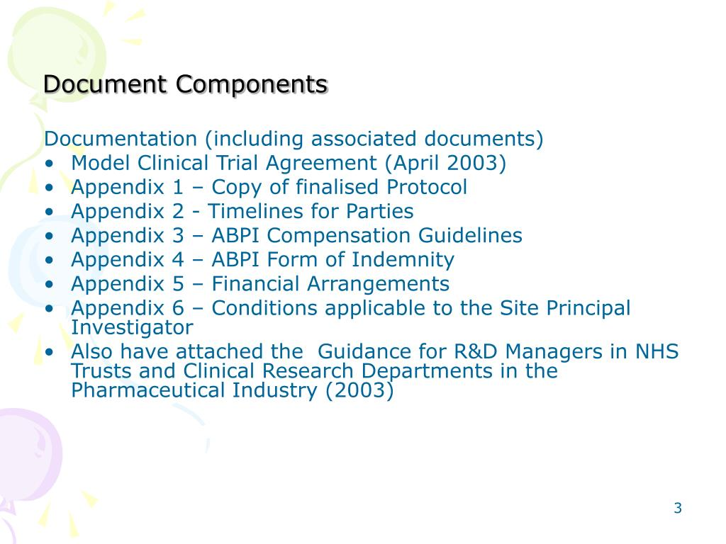 Document Components