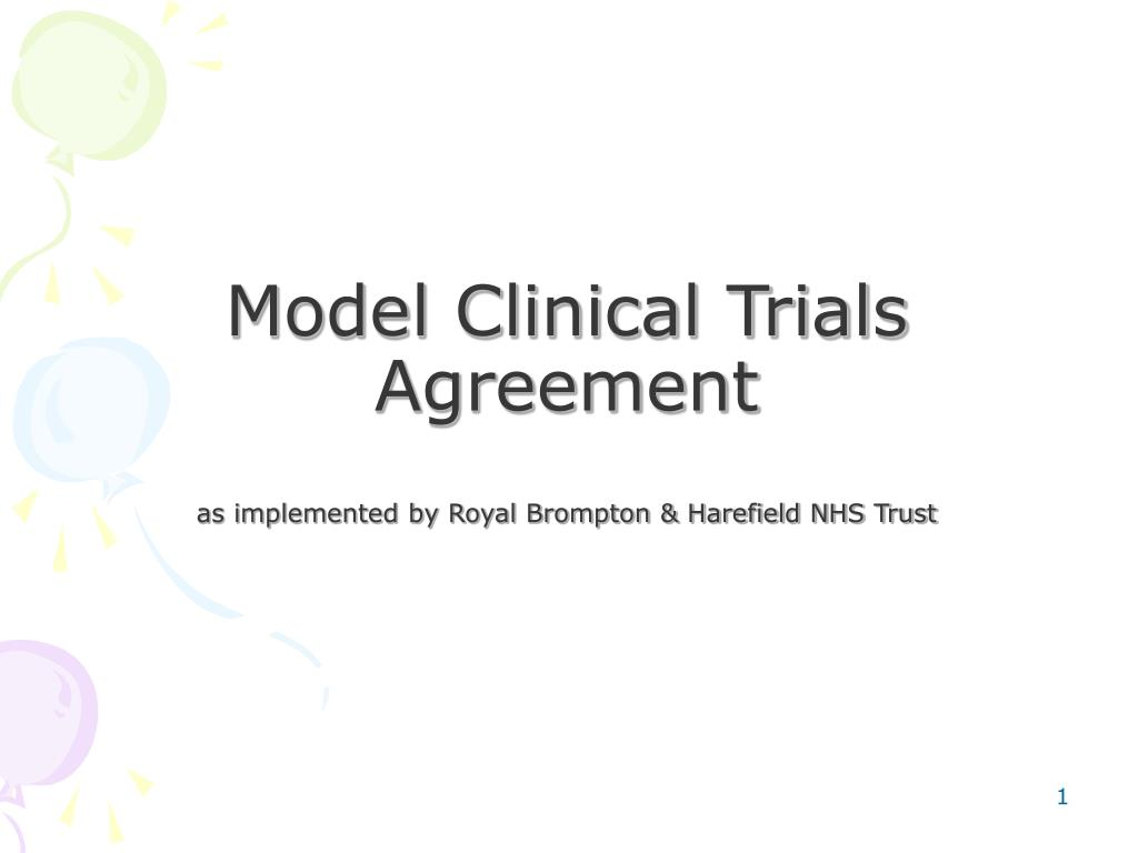 Model Clinical Trials Agreement