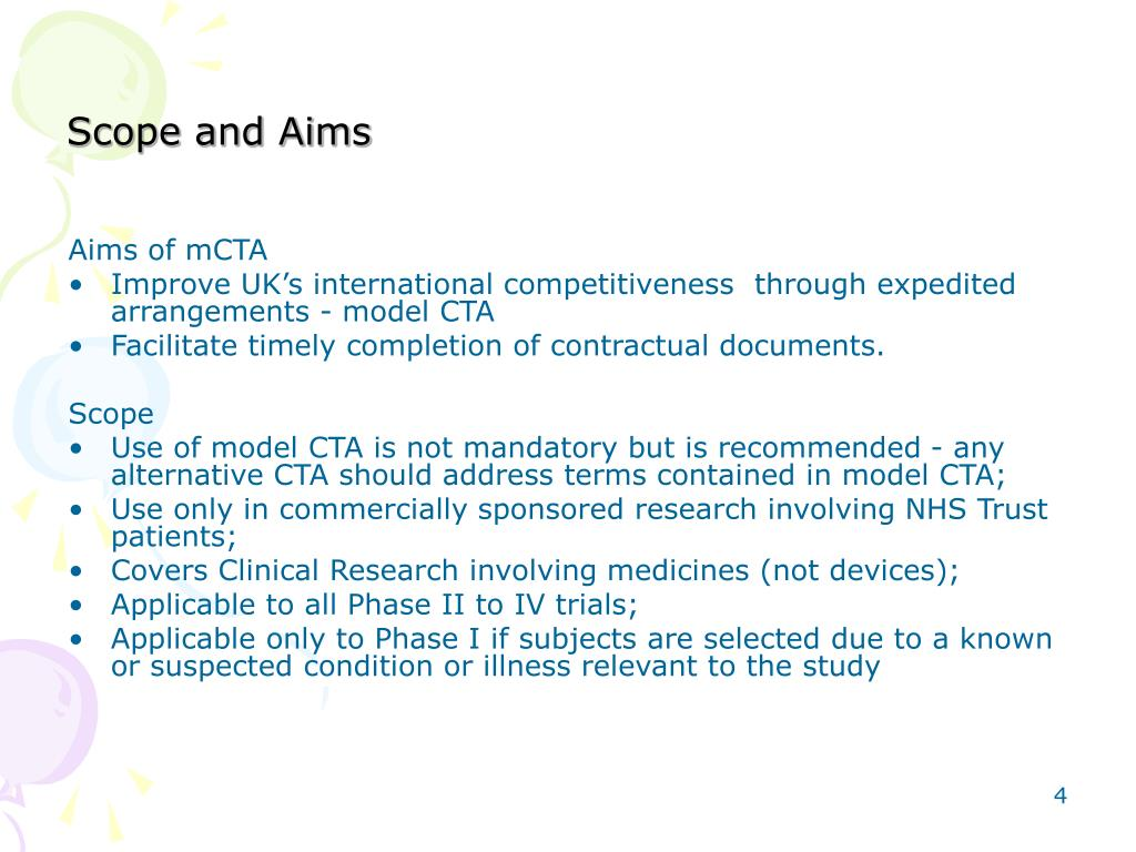 Scope and Aims