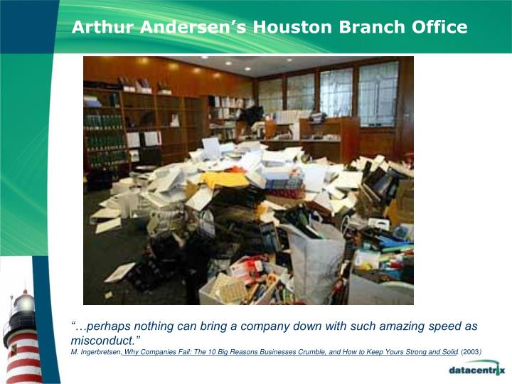 Arthur Andersen's Houston Branch Office