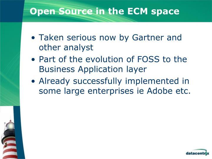 Open Source in the ECM space