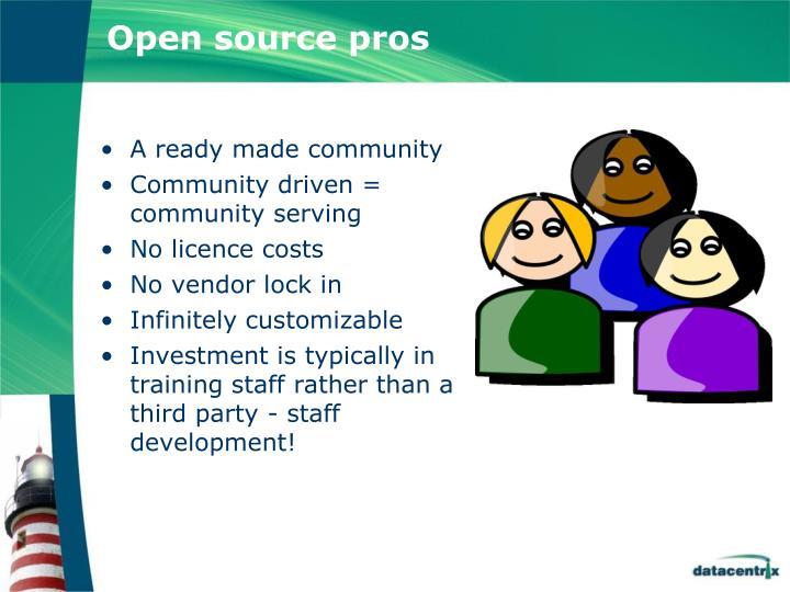 Open source pros