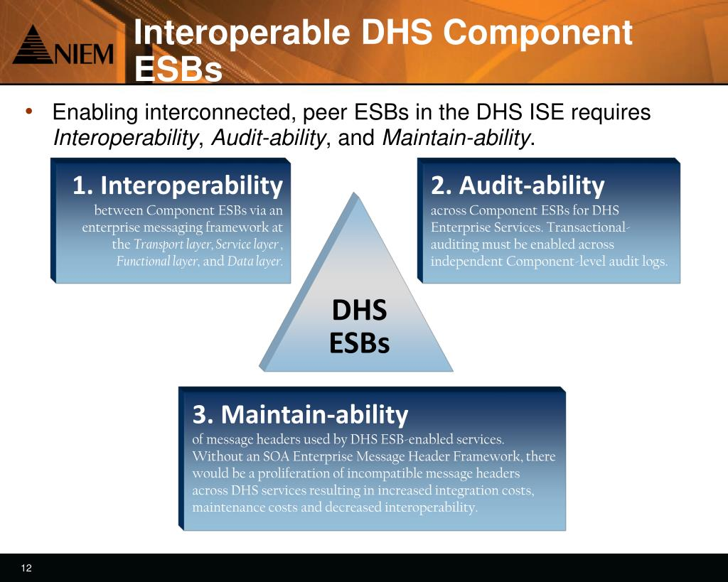 Interoperable DHS Component ESBs