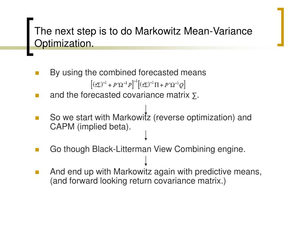 mean variance optimization