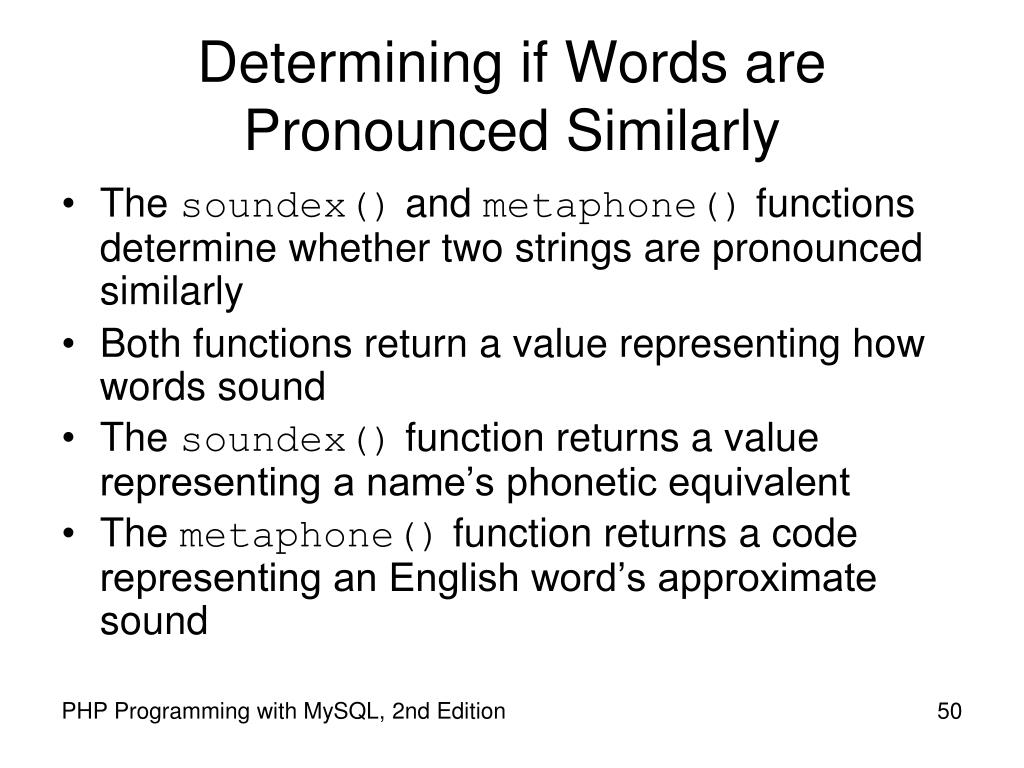 Determining if Words are Pronounced Similarly