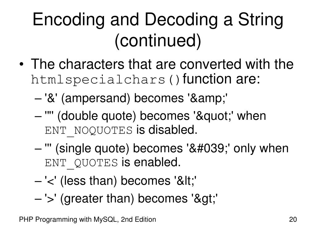 Encoding and Decoding a String