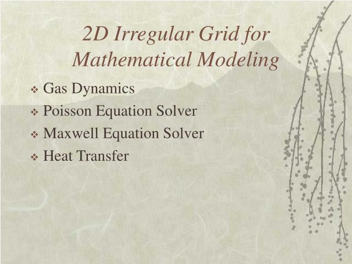2D Irregular Grid for Mathematical Modeling