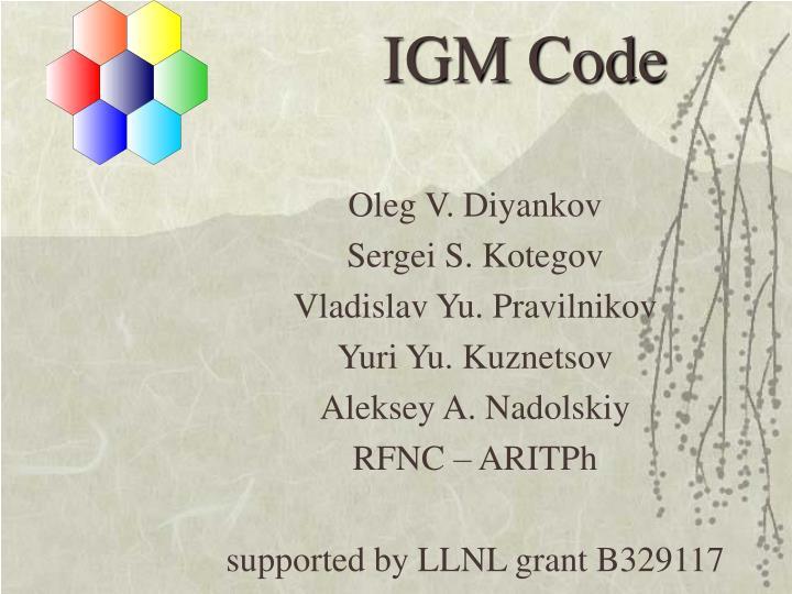 IGM Code