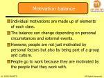 motivation balance