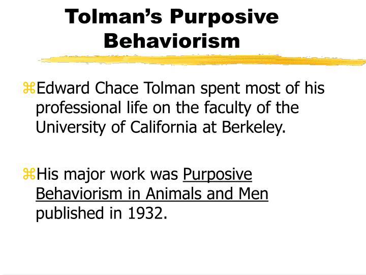purposive behaviorism