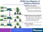gpon voice migration of telephony networks