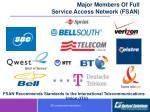 major members of full service access network fsan