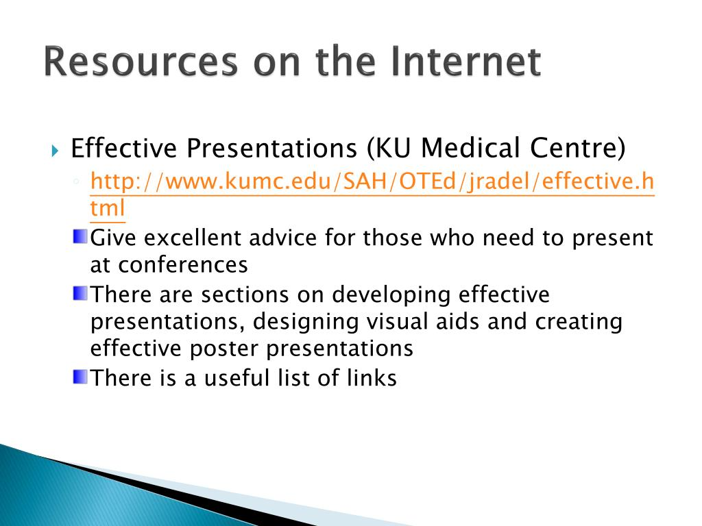 Resources on the Internet