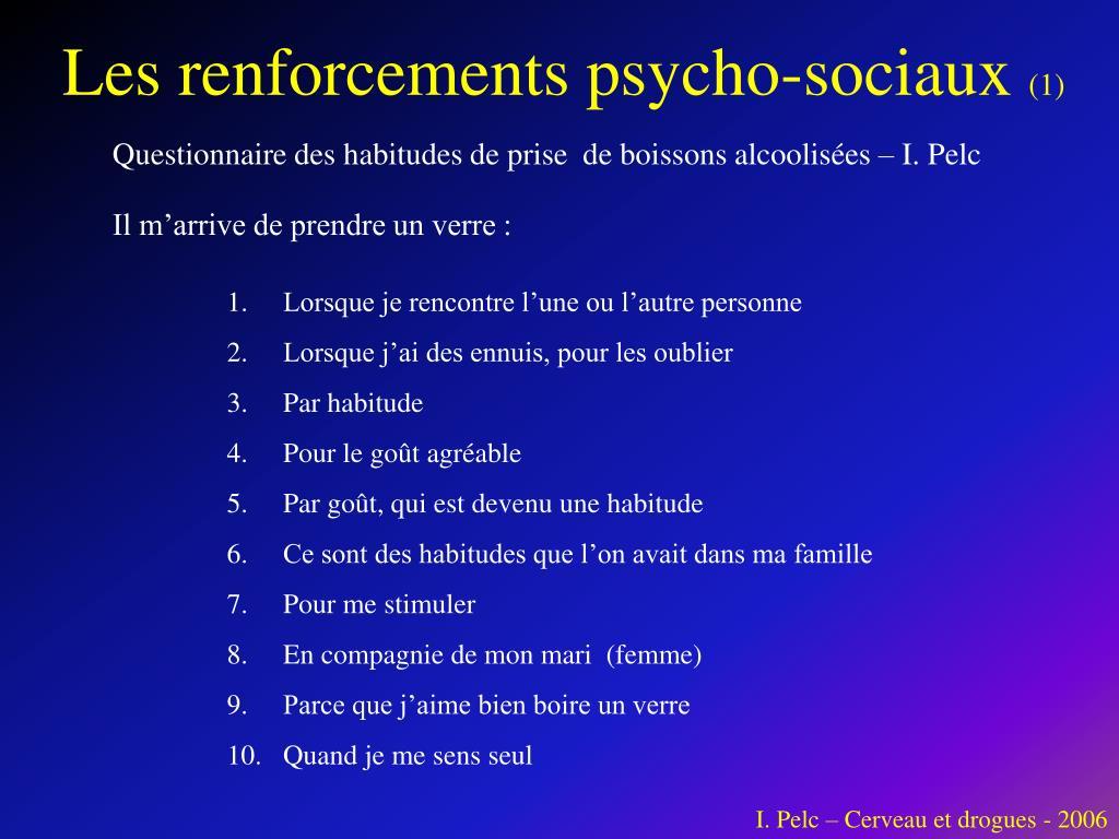 Les renforcements psycho-sociaux