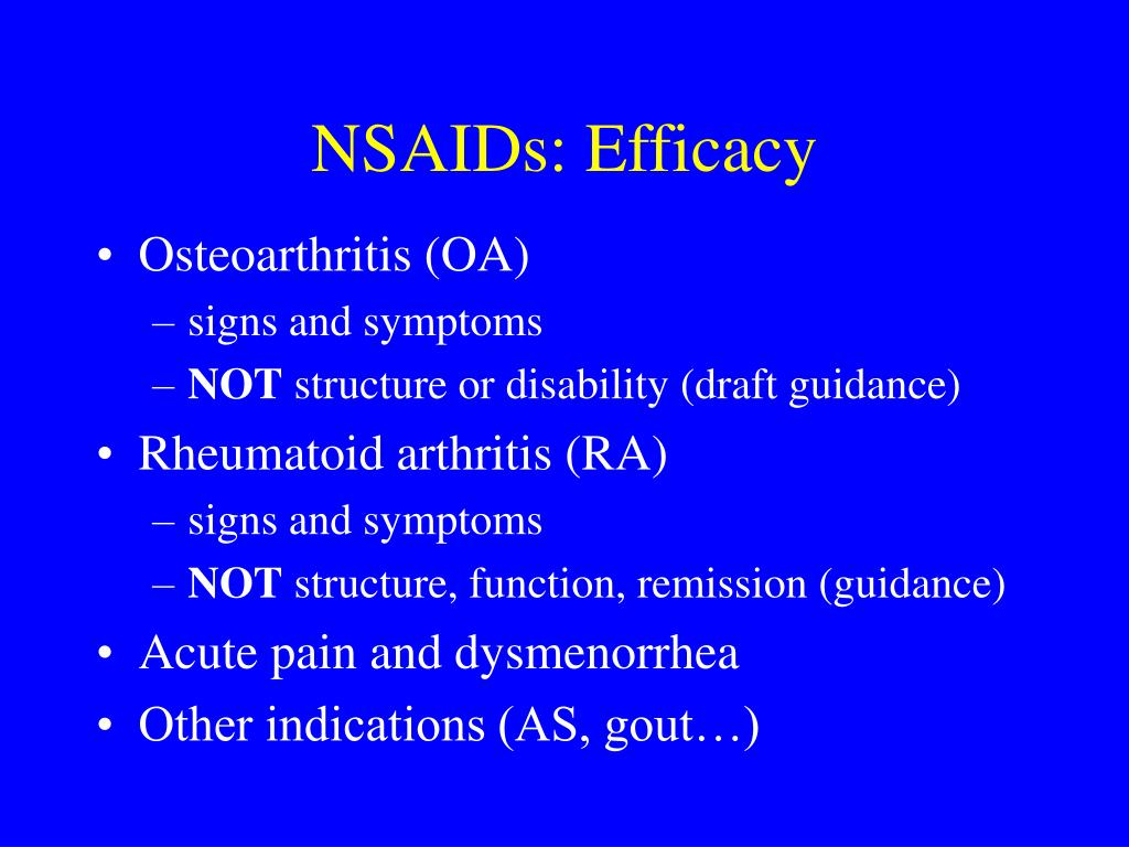 nsaids for osteoarthritis