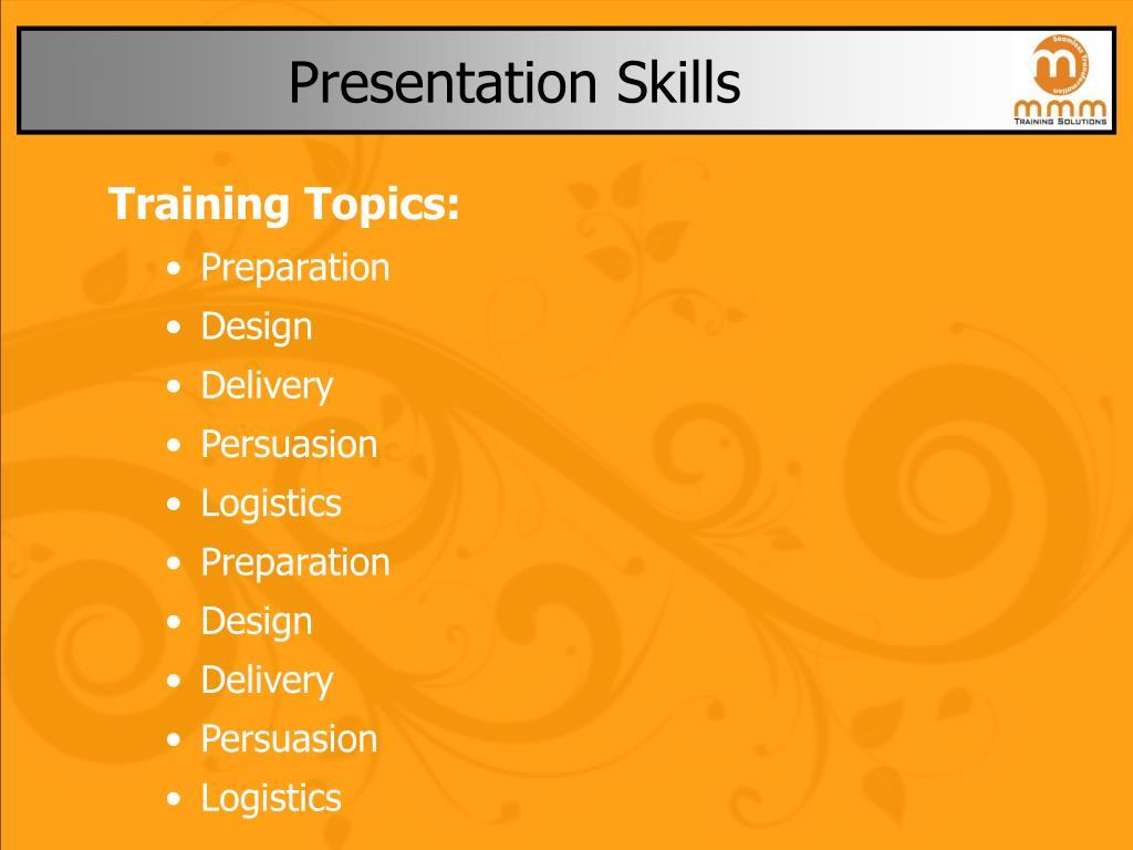 presentation skills l.