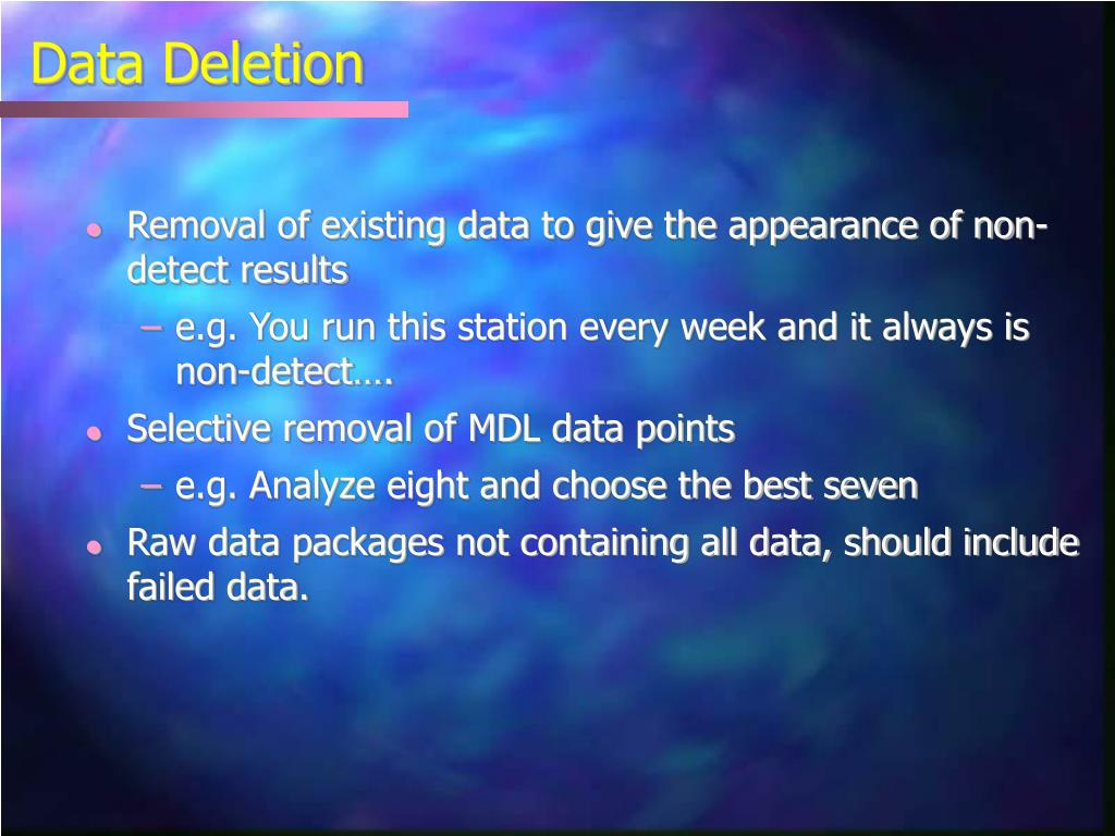 Data Deletion