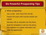 six powerful prospecting tips11
