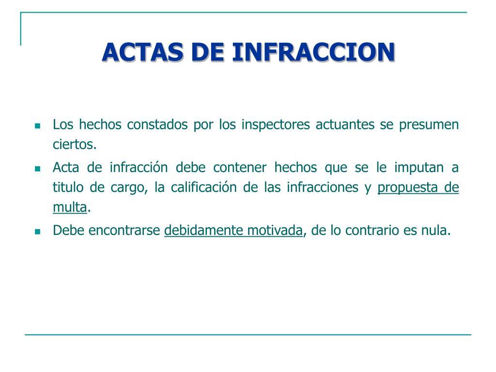 ACTAS DE INFRACCION