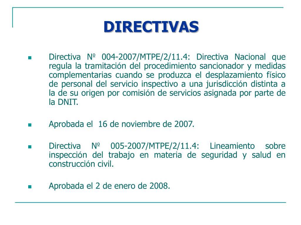DIRECTIVAS