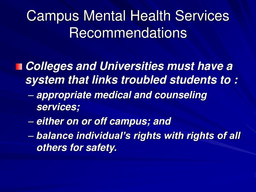 Campus Mental Health Services