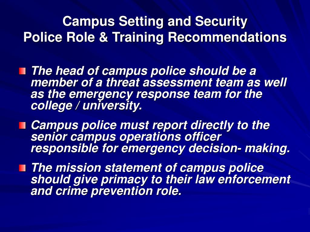 Campus Setting and Security