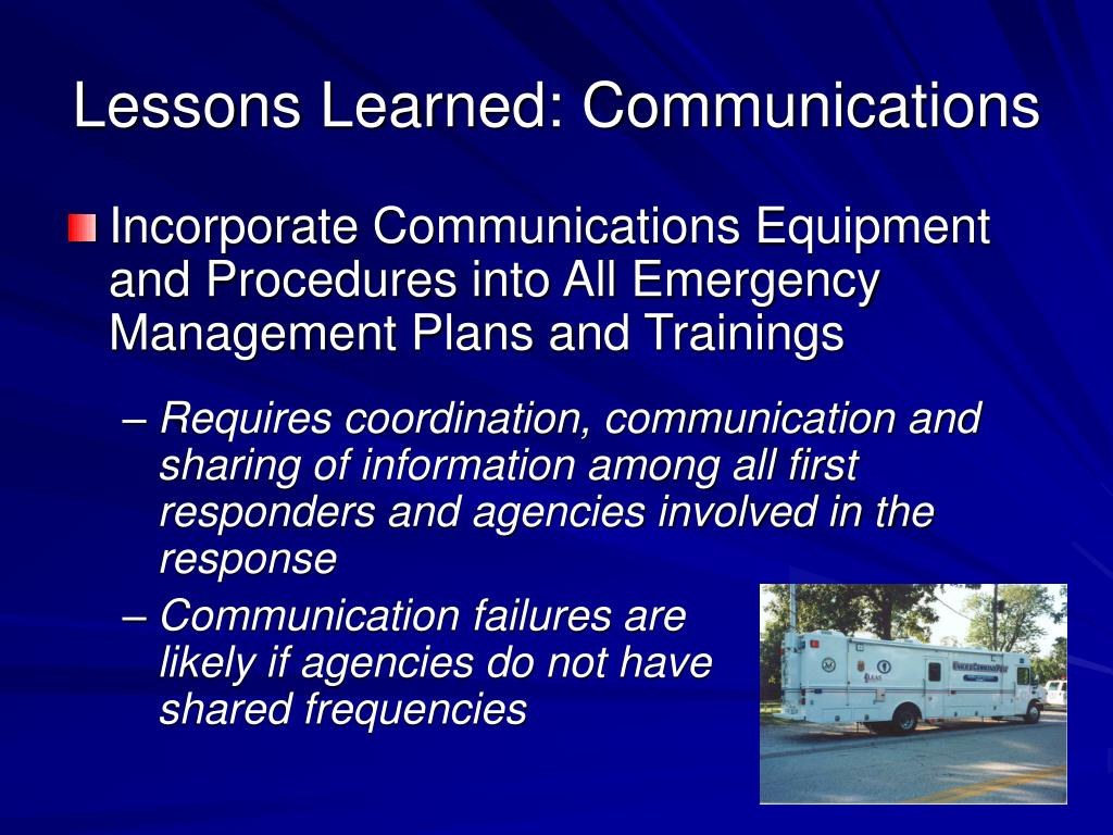 Lessons Learned: Communications