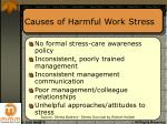 causes of harmful work stress
