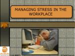 managing stress in the workplace