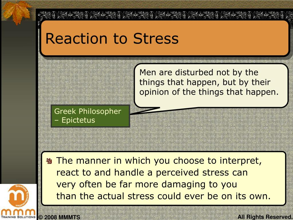 Reaction to Stress