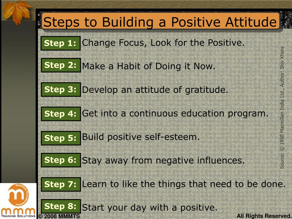 Steps to Building a Positive Attitude