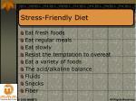 stress friendly diet