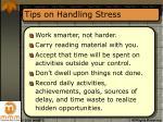tips on handling stress