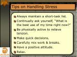 tips on handling stress16
