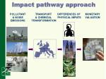 impact pathway approach